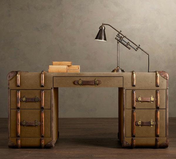 Schreibtisch-Möbel-Vintage-Ideen-Design