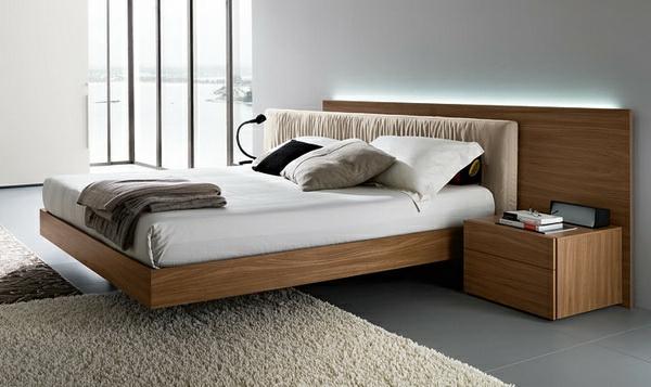 Schwebende-Betten-modernes-Design-Holz