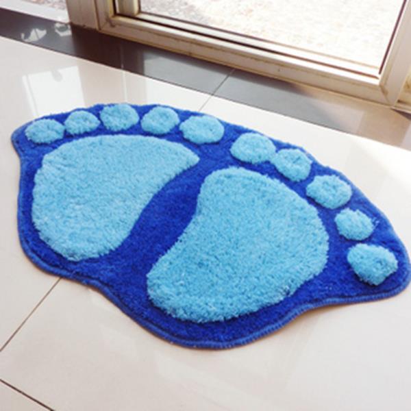 Teppich Für Badezimmer Blaue Füße Schöne Ideen