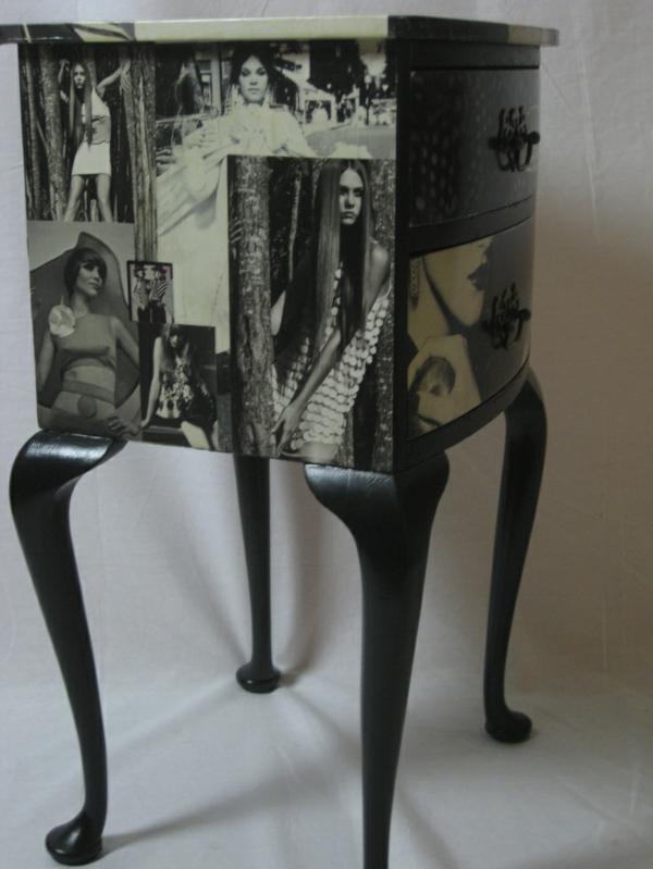 Tisch-mit-Schubladen-Idee-schwarze-Farbe