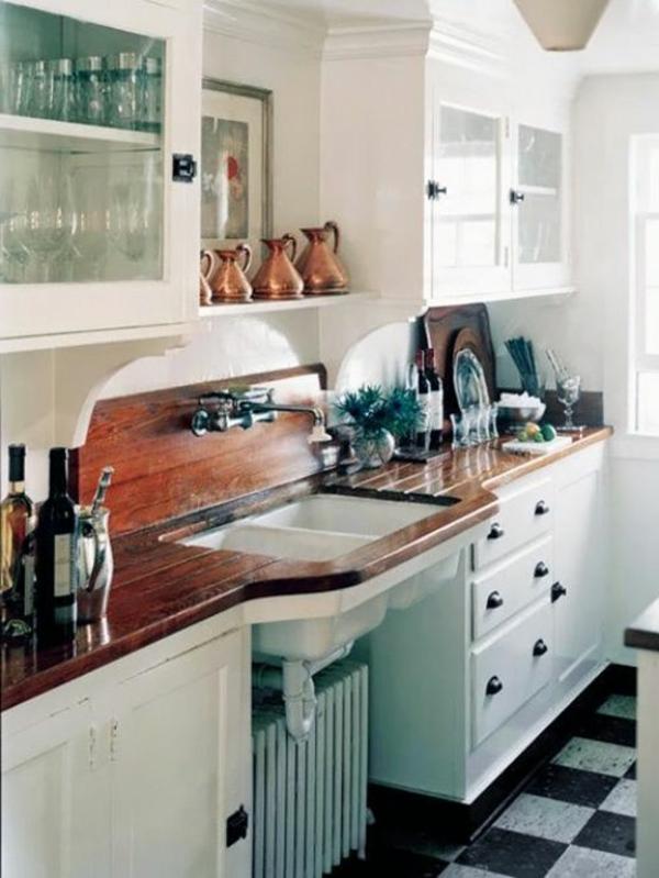 Vintage-Küchenmöbel-Küchengestaltung-weiß-Holz-Ideen