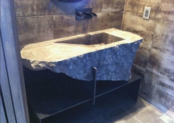 20 Ideen für Waschbecken aus Naturstein! - Archzine.net