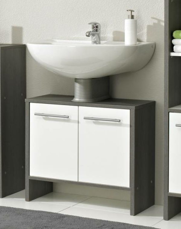 Waschbeckenunterschrank-weiss-Badezimmerdesign