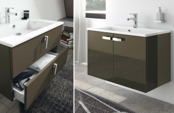 Waschtisch-Unterschränke-Badezimmer-Designidee