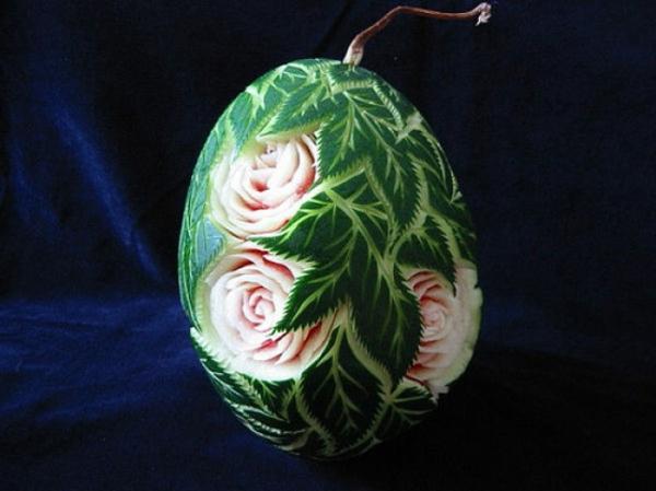kleine Wassermelone-Rosen-schneiden