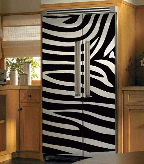 super-Idee-Zebra-Aufkleber-für-den-Kühlschrank