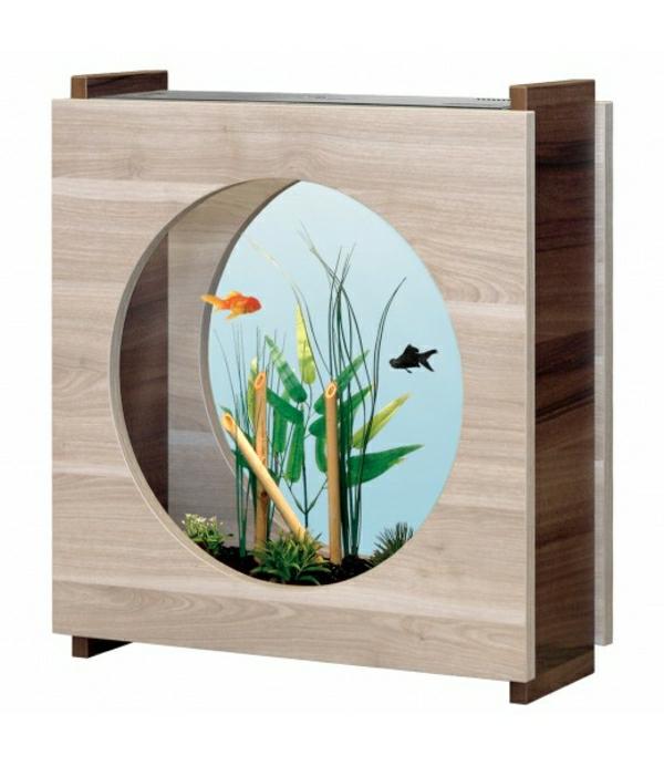 aquarium-raumteiler-rundes-fenster - weiße gestaltung