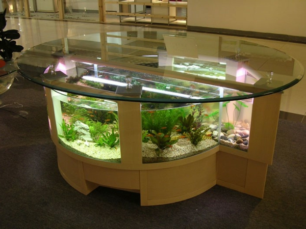Aquarium Tisch Kugel