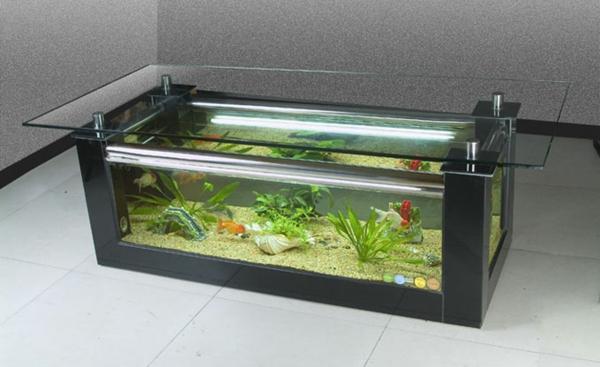Aquarium Tisch Viereck Grün
