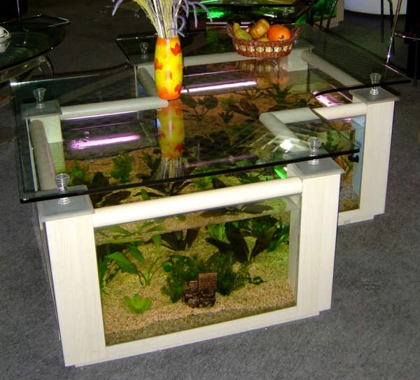 Aquarium Tisch Wohnzimmer Zwillinge