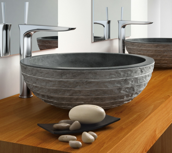 20 Ideen Für Waschbecken Aus Naturstein! | Badezimmer ...