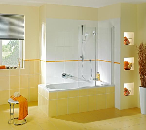 Badewanne Mit Duschzone  Tolle Beispiele!   Archzine.net. Badezimmer  Badezimmer Fliesen Gelb ...