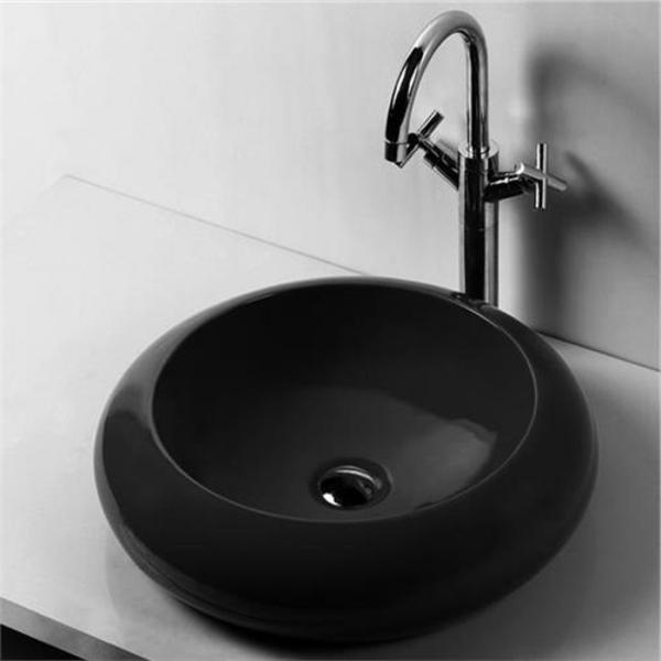 Schwarzes Waschbecken für das Badezimmer - Archzine.net