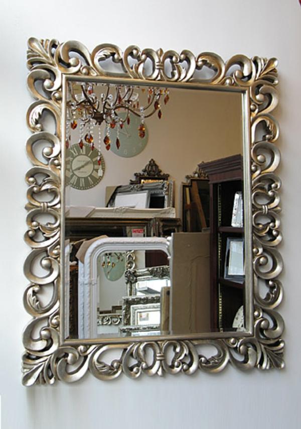 spiegel mit silberrahmen spiegel im silberrahmen wohnen. Black Bedroom Furniture Sets. Home Design Ideas