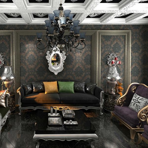 barock-tapete-für-ein-aristokratisches-wohnzimmer