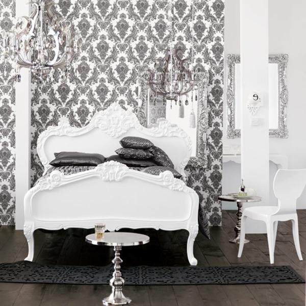 barock-tapete-graue-farbe