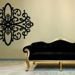 wundersch ne wandgestaltung im landhausstil. Black Bedroom Furniture Sets. Home Design Ideas
