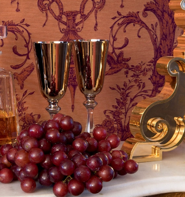 barock-tapete-sehr-elegant-wirken - zwei gläser