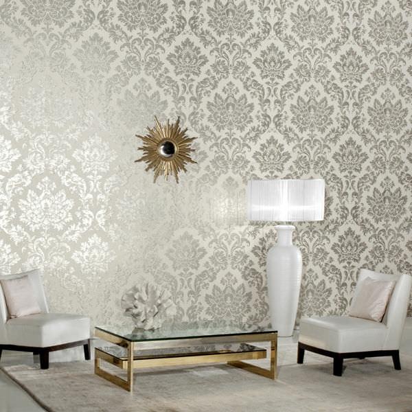 barock-tapete-weiße-zimmergestaltung