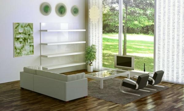 wunderschönes wohnzimmer im skandinavischen stil