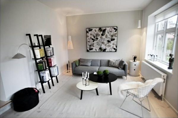wudnerschönes wohnzimmer im skandinavischen stil - bild an der wand