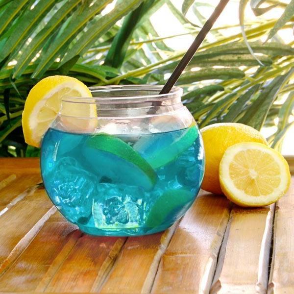 blaue-Cocktails-Dekoideen-Zitronen-Ideen