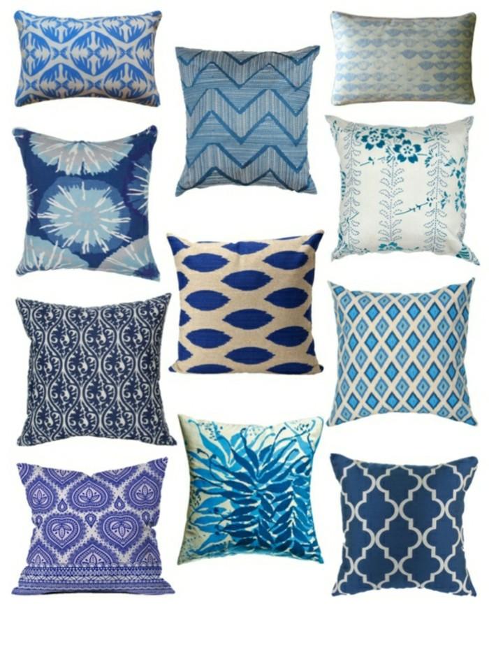 blaue-kissen-unterschiedliche-modelle