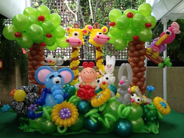 bunte-deko-aus-ballons- interessante figuren