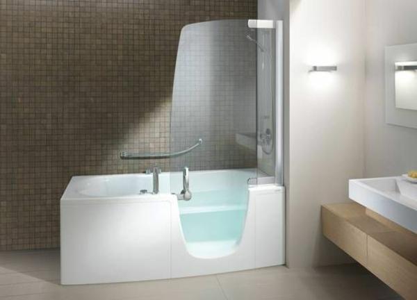 Badewanne mit duschzone eckig  PostaPlan.com = Eckige Badewanne Mit T?r Und Dusche ~ Badewanne ...