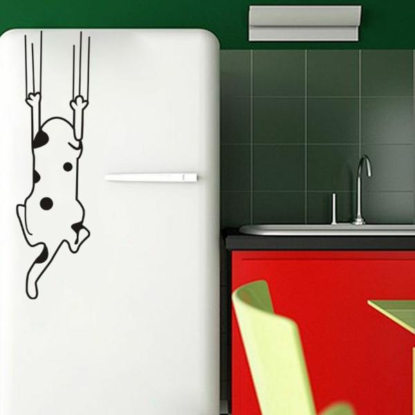 katze-aufkleber-kühlschrank-kreative-idee