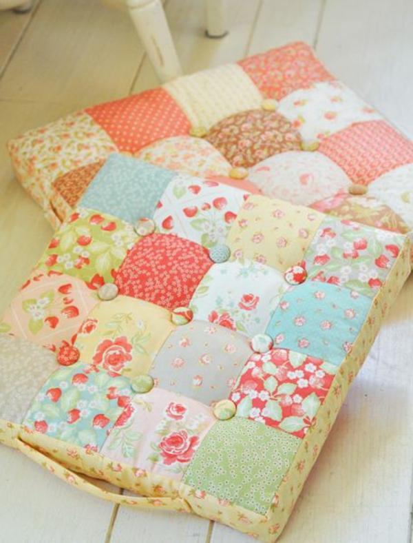 charmante-bunte-Sitzkissen-muster-patchwork