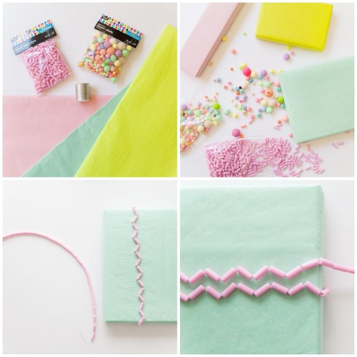 deko 1 geburtstag mädchen, geschenke originell veracken, diy anleitung, rosa perlen