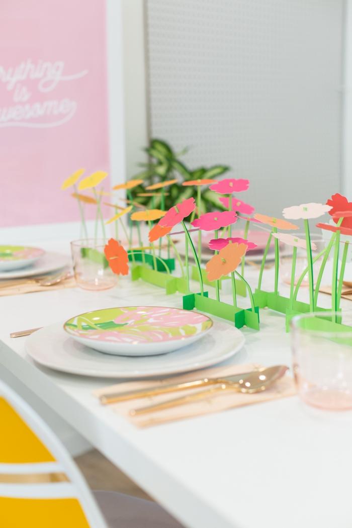 deko 1 geburtstag mädchen, tischdeko zum kindergeburtstag, frühlingparty dekoration