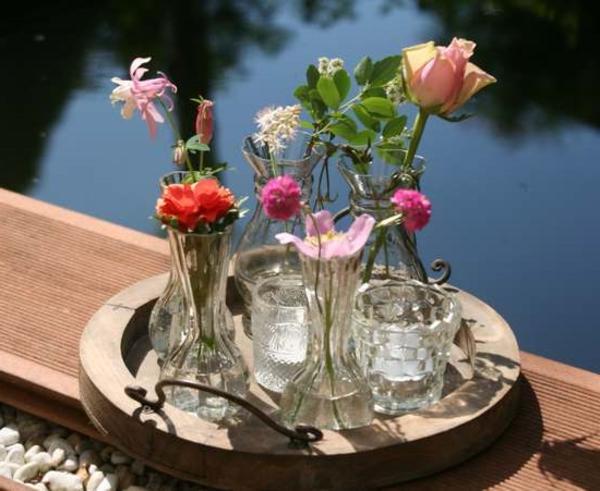 deko-bastelideen-blumen-in-vasen - sehr schönes foto