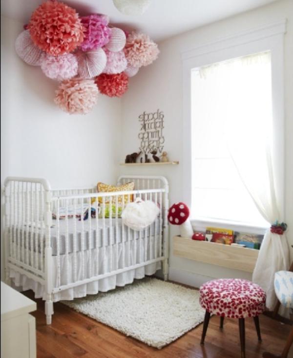 deko-bastelideen-fürs-babyzimmer - in weißer farbe