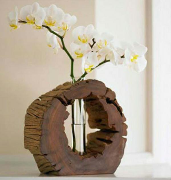 deko-bastelideen-weiße-orchideen - sehr interessante dekoidee