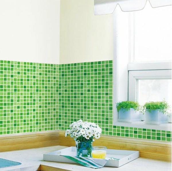 deko-folie-grüner-küche