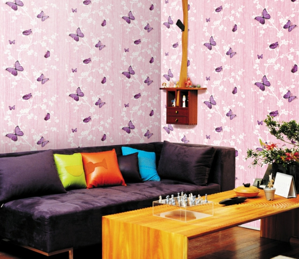 deko-folie-wohnzimmer-rosa