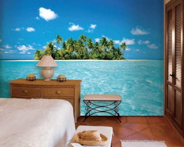deko-palme-moderne-tapere-fürs-schlafzimmer