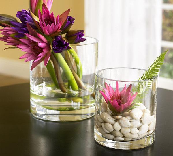 Glas deko stilvoll und wundersch n - Blumengestecke ideen ...
