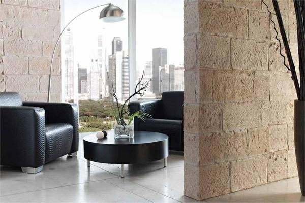 deko   paneele-elegantes-zimmer-mit-schwarzen-möbeln - gläserne wände