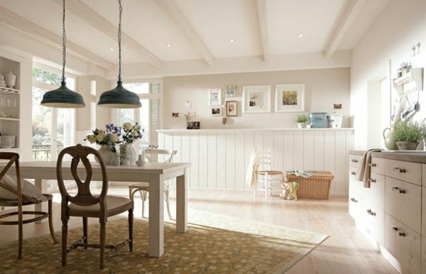 deko   paneele-esszimmer-mit-weißer-gestaltung - im landhausstil