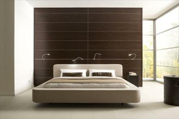 deko   paneele-für-ein-elegantes-schlafzimmer - mit einem modernen bett