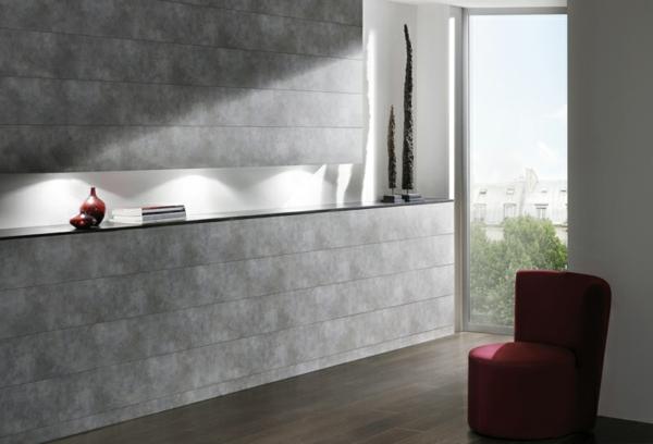 deko  paneele- graue-farbe- ein sessel daneben