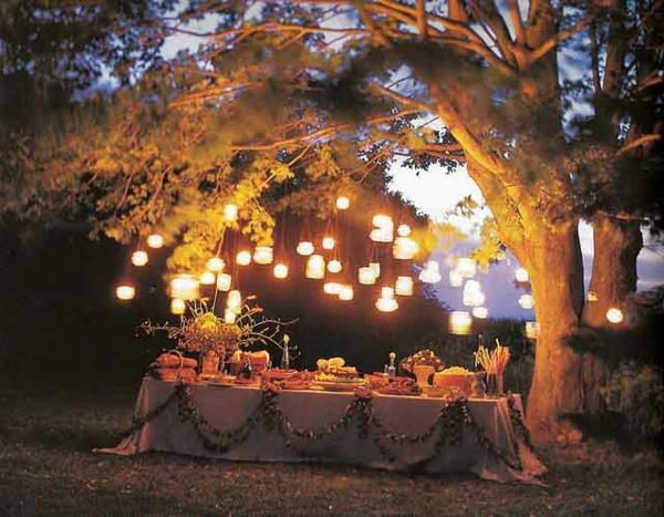 Garten Party Zum Geburtstag Ideen Nacht Beleuchtung | Alex Garten Feld