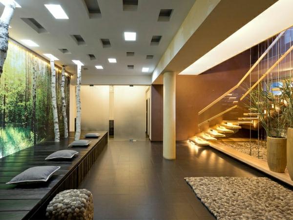 dekosteine-für-einen-luxuriös-gestalteten-wohnraum - interessante deckenleuchten