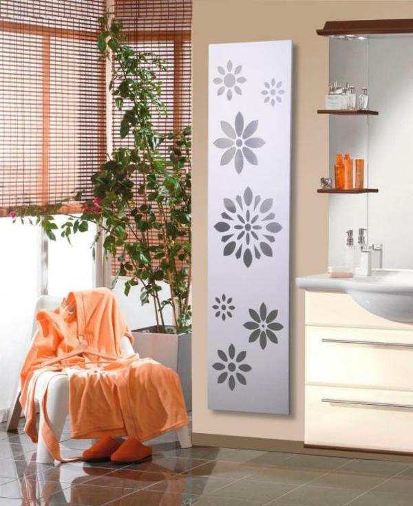design-vom- badheizkörper-gemütliches-bad - grüne pflanze