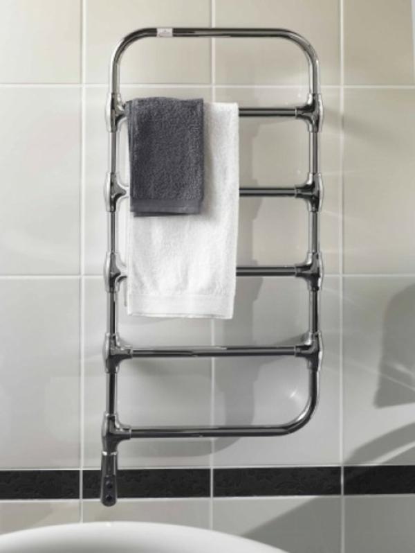 design-vom- badheizkörper-interessant- weißes tuch