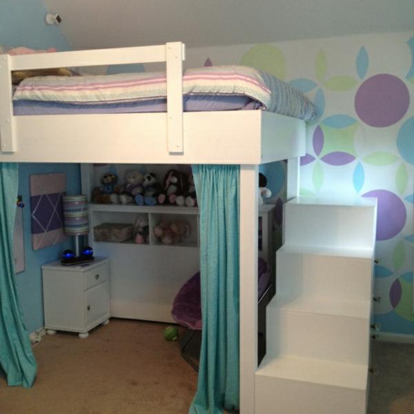 Kinderzimmer hochbett komplett  Kinderzimmer Dekor Hochbett
