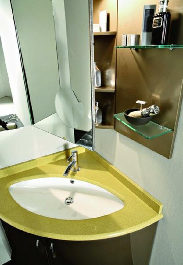 eckenwaschbecken-badezimmerdesign-gelb